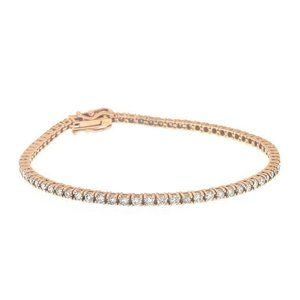 Jewelry - Round brilliant cut 3.50 carats diamonds Ladies br